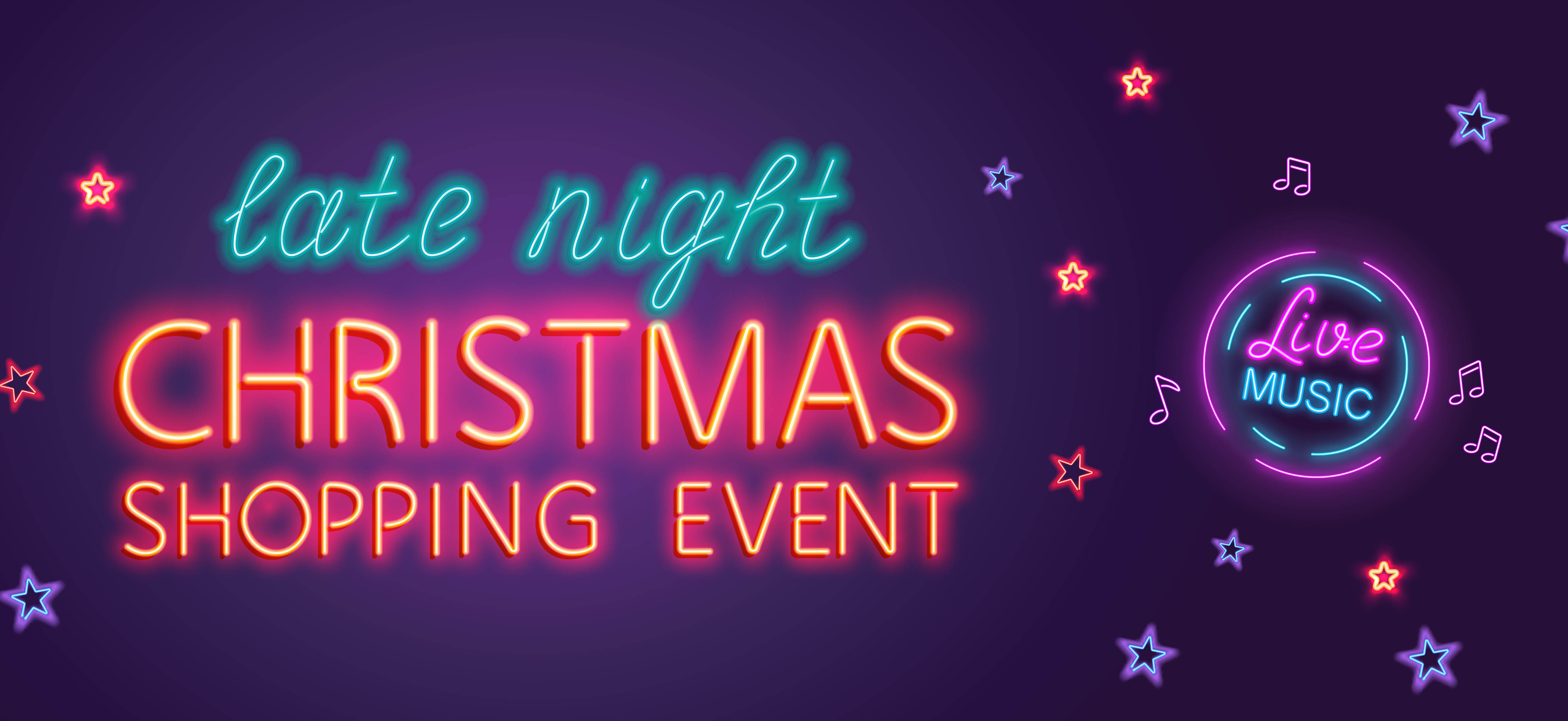 Late Night Christmas Shopping Event